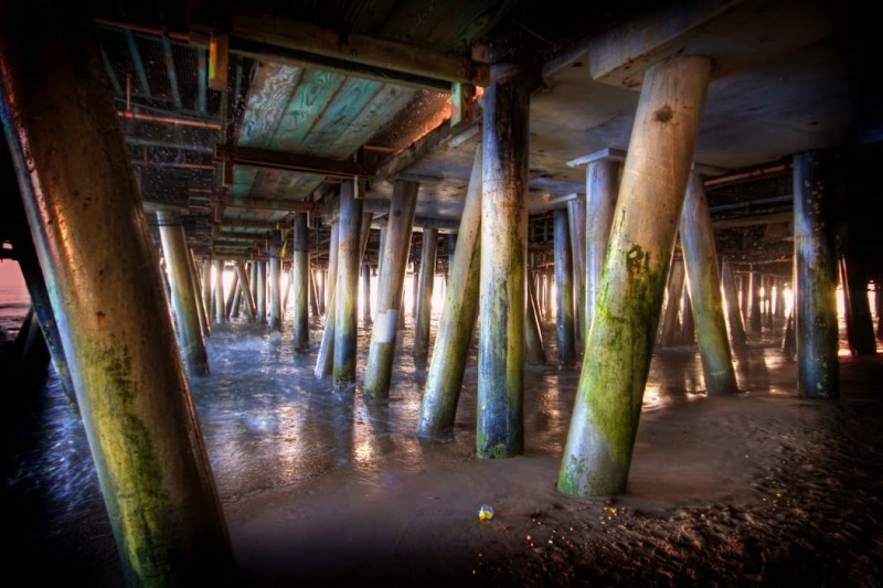 Under the Santa Monica Pier at Sunset