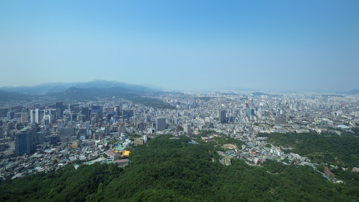 A view from Seoul Tower.